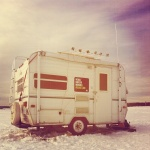 Mobile Lab on frozen Lake Nipissing for Ice Follies 2015